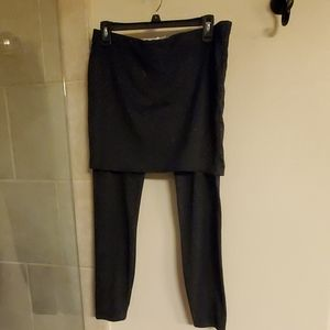 Cabi space dyed skirted leggings